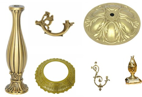 Brass Chandelier Parts