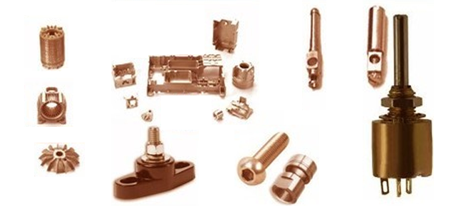 Application of copper die cast parts