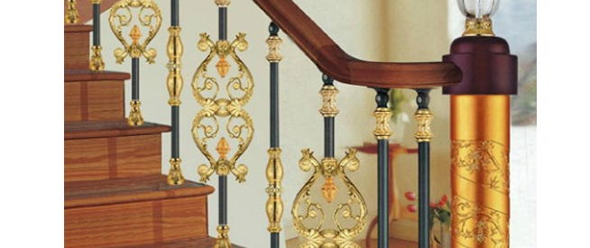 brass stair parts