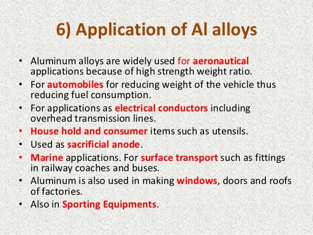 Aluminum application