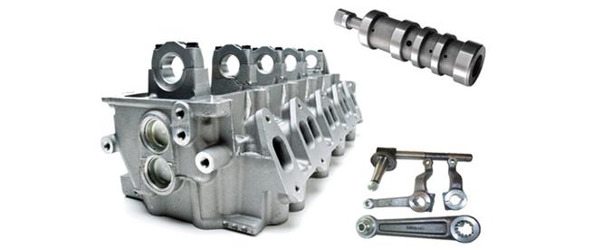 aluminum cast component
