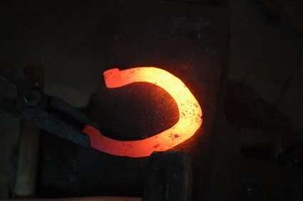 bend the metal in forging process